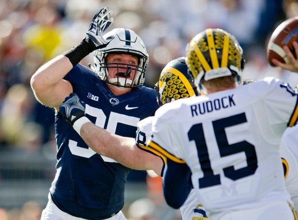 Raiders defensive end Carl Nassib, who was the Big Ten Defensive Player of the Year at Penn State in 2015, came out as gay on Monday.