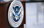 A U.S. Department of Homeland Security plaque. The Biden administration has recently released its National Strategy for Countering Domestic Terrorism.