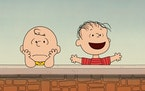 """Charlie Brown and Linus of """"Peanuts."""" A new special, """"Who Are You, Charlie Brown?"""" premieres Friday on Apple TV Plus."""