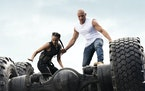 """Nathalie Emmanuel and Vin Diesel in """"F9: The Fast Saga.""""  Giles Keyte/Universal Pictures"""