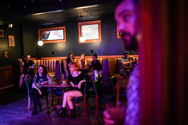 The back room at Mortimer's in Minneapolis was turned into a popular live music space in 2018.