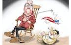 Sack cartoon: Just toying around