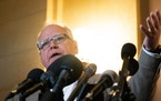 Gov. Tim Walz spoke at a press conference inside the Minnesota State Capitol earlier this month.