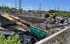 Several people were injured Wednesday after a pedestrian bridge collapsed onto a Washington D.C. highway.