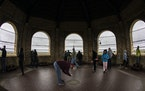 People took in the view from the top of the Highland Water Tower during the most recent open house, in October 2019. (Star Tribune file photo by Carlo