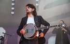 In this Sunday, May 26, 2019 file photo, Winston Marshall of Mumford & Sons performs at the BottleRock Napa Valley Music Festival at Napa Valley Expo,