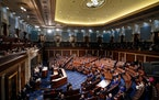 President Joe Biden addressed a joint session of Congress in April. Had the chamber been packed — it wasn't because of the pandemic — the partis
