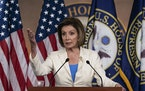 House Speaker Nancy Pelosi of Calif., speaks during a media availability at the Capitol in Washington, Thursday, June 24, 2021. Pelosi announced on Th