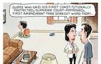 Sack cartoon: Free speech rights
