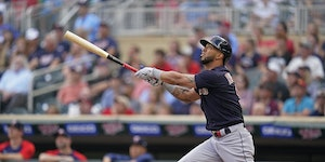Eddie Rosario returned to Target Field for the first time since being released by the Twins after last season.