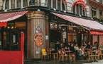 Paris cafes have reopened for outdoor dining.