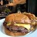 Rick Nelson • Star Tribune  The burger at Sidebar at Surdyk's in Minneapolis.
