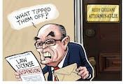 Sack cartoon: Rudy Giuliani