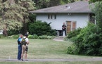Woodbury police investigated Friday after a woman was found dead in a residence on Steepleview Road. (Photo by Jim Anderson)