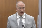 Derek Chauvin at his sentencing Friday.