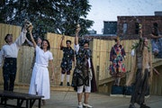"""The cast of """"The Tempest"""" stood for applause after their preview show at the Great River Shakespeare Festival in Winona.   LEILA NAVIDI • leila."""