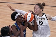 Sylvia Fowles (34) had one of the best game of her career on Friday vs. Las Vegas.