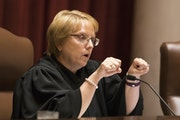 Chief Justice Lorie Skjerven Gildea asks questions during oral arguments. ] LEILA NAVIDI • leila.navidi@startribune.com BACKGROUND INFORMATION: The