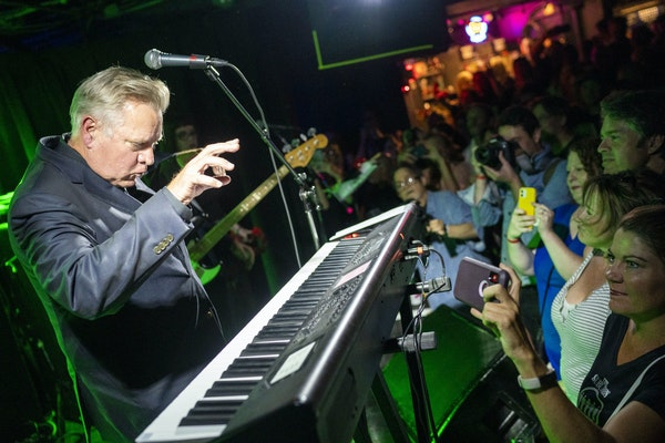 Chan Poling played keyboard as the Suburbs performed at 7th St. Entry in Minneapolis on Friday night.