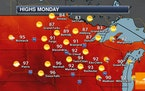 Hot Monday Ahead Followed By Much Needed Rain Tuesday