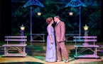 """Ann Michels and Michael Gruber in """"The Music Man."""""""