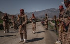 """Members of the Taliban's elite """"Red Unit"""" in Laghman, Afghanistan, on March 13, 2020."""