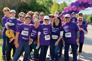 The late Nancy Allin Nelson (No. 1081) and her husband, Russ Nelson, (1082) and family and friends at the Minnesota Pancreatic Cancer Network walk in