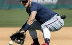 Josh Donaldson is at third base and back in his usual No. 2 spot in the batting order for the Twins' series finale in Detroit.