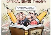 Sack cartoon: Critical erase theory