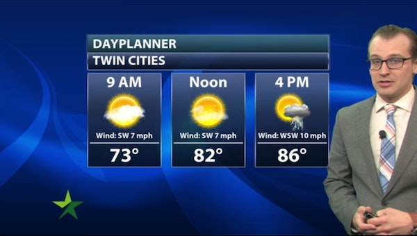 Morning forecast: Mostly sunny, high 87; chance of PM storms