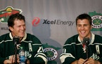 The Minnesota Wild introduced Ryan Suter, left, and Zach Parise at a press conference on July 09, 2012 in St. Paul.