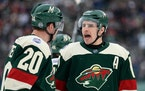 Ryan Suter, left, and Zach Parise, right, climbed the Wild record books during their nine seasons in Minnesota.