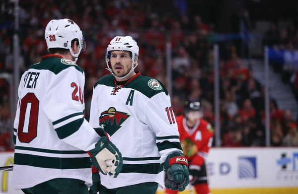 Zach Parise, right, and Ryan Suter, left, spent nine seasons together with the Wild before having their contracts bought out on Tuesday.