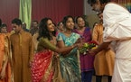 "Poorna Jagannathan, left, and Maitreyi Ramakrishnan in ""Never Have I Ever."""