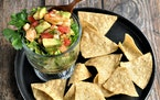 Meredith Deeds • Special to the Star TribuneShrimp, Jicama and Avocado Salsa has the right balance of crunch and sweetness.