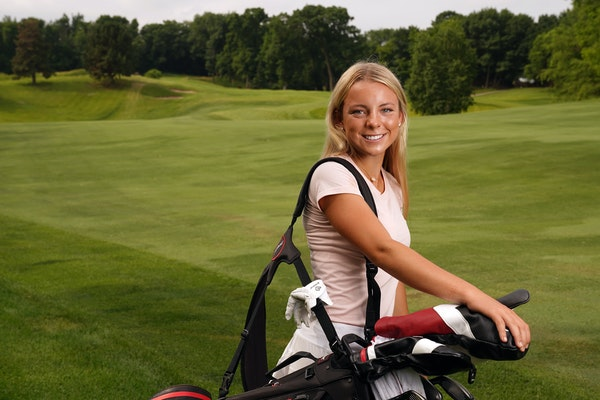 The Star Tribune Girls' Golfer of the Year Isabella McCauley of Simle stood for a portrait Thursday at the Southview Country Club. ] ANTHONY SOUFFLE