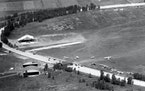 The former racetrack oval was still visible at the budding airport in 1928.