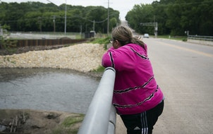 Jennifer Green visited the bridge where she attempted suicide 31 years ago in Faribault, Minn.