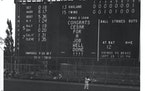 The famous scoreboard at Met Stadium was a beauty.