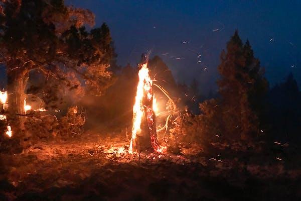 Massive Oregon blaze testing firefighting crews