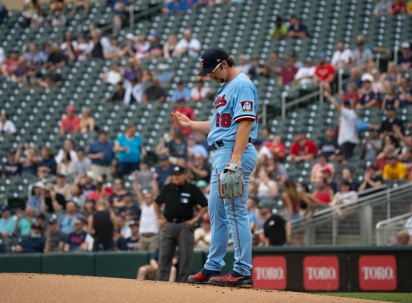 Twins righthander Randy Dobnak was shifted to the 60-day injured list in part because a finger injury on his pitching hand continues to give him probl