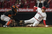 Besides pitch and hit, Angels two-way star Shohei Ohtani can also run — as he demonstrated by scoring the winning run from second against Baltimore