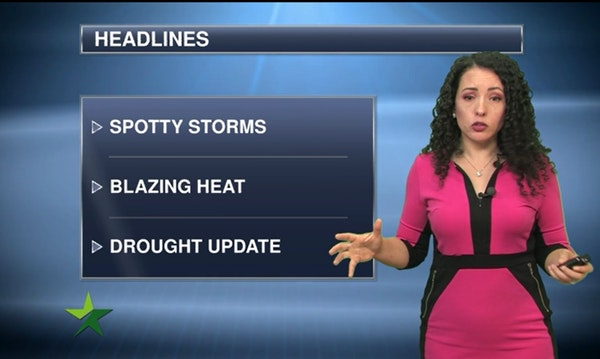 Morning forecast: Low 90s again, chance of thunderstorm
