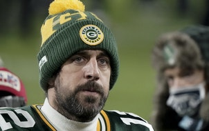Aaron Rodgers after the Packers lost the NFC title game in January.