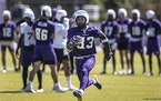 Vikings running back Dalvin Cook at minicamp last month.