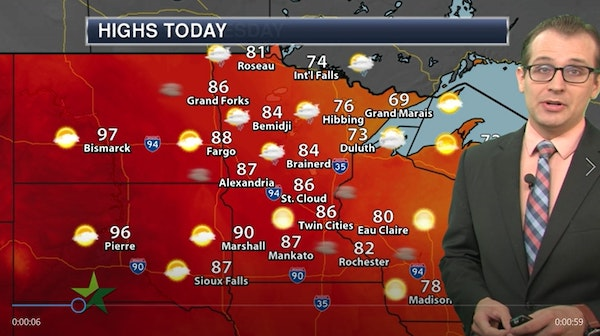 Morning forecast: Smoky and not quite as hot; high of 87