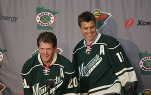 The Minnesota Wild will introduce Ryan Suter left Zach Parise to the media at a press conference Monday July 09, 2012 in St. Paul, MN. ] Jerry Holt/ S