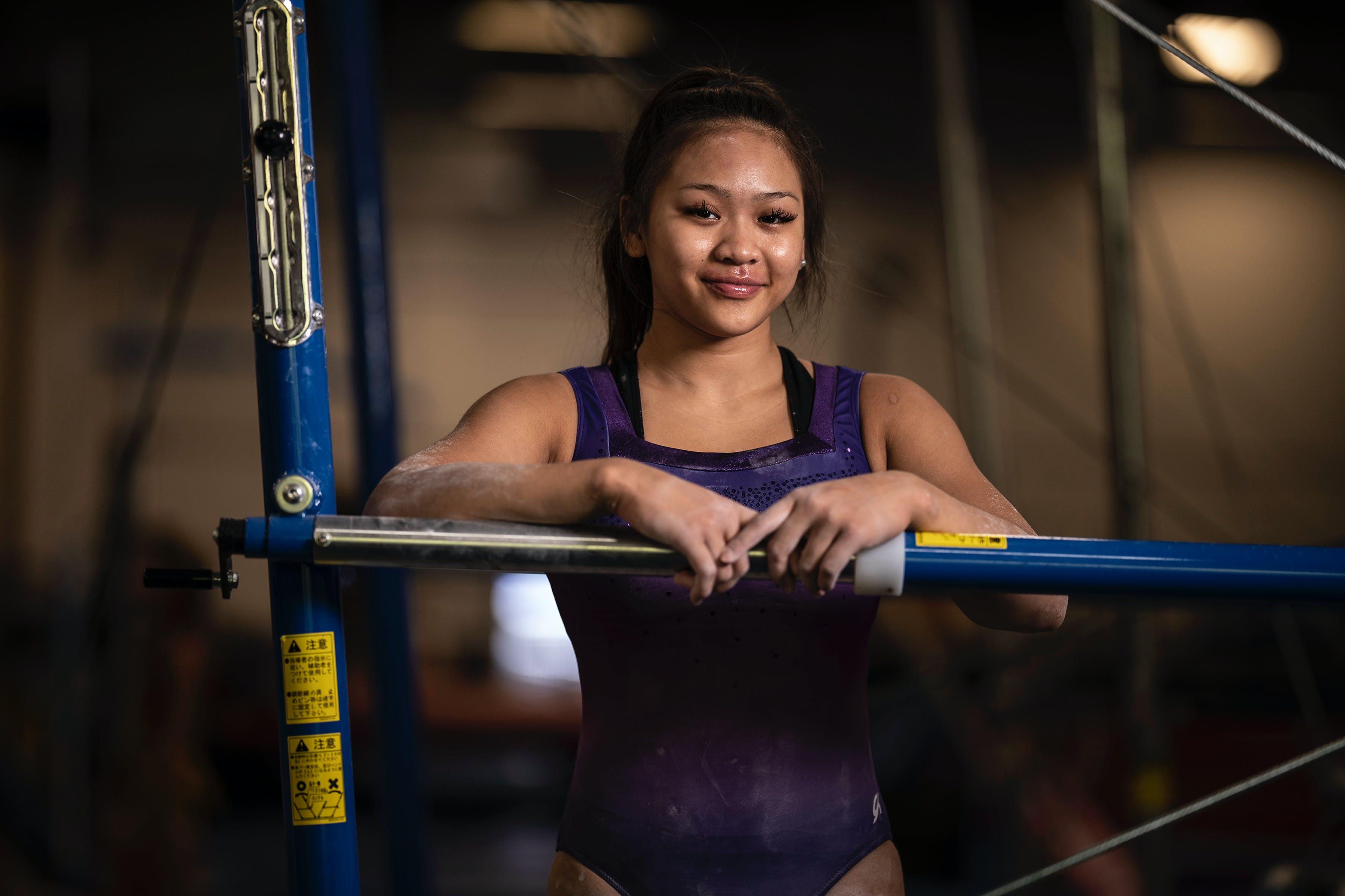 Sunisa Lee, a member U.S. women's national gymnastics team, at Midwest Gymnastics Center in Little Canada.