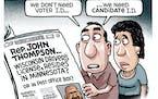 Sack cartoon: Rep. John Thompson