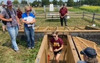 Bailey Tangen, a University of Minnesota graduate student in water resources, led a session on soil health at the University of Minnesota Extension'